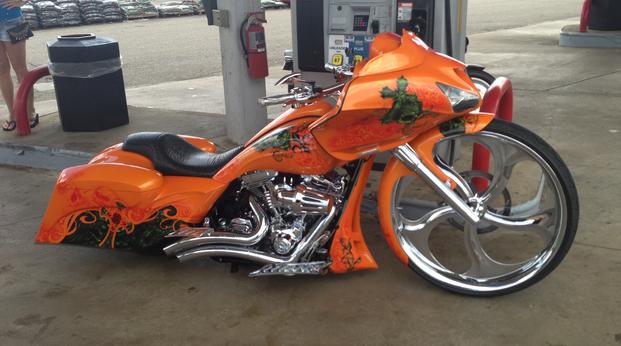 awesome custom motorcycle bike pontoon